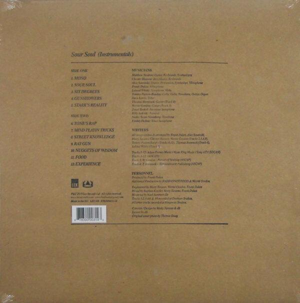 BADBADNOTGOOD & GHOSTFACE KILLAH sour soul (instrumentals) LP back