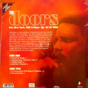 DOORS, THE live new york 1969 LP