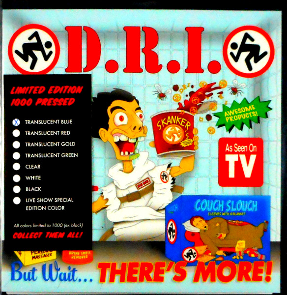 """D.R.I. but wait there's more - blue vinyl 7"""""""