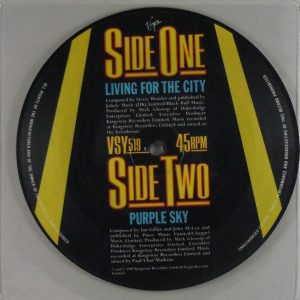 IAN GILLAN living for the city pic disc