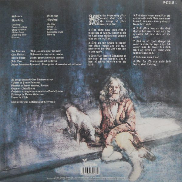 JETHRO TULL aqualung LP back