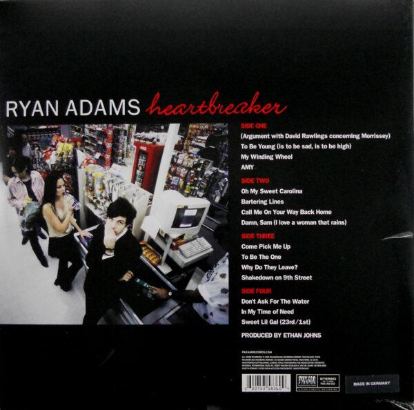 ADAMS, RYAN heartbreaker LP back