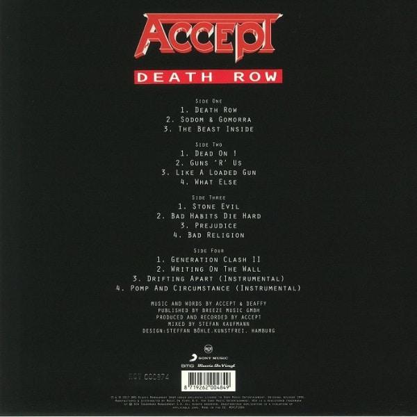 ACCEPT death row LP
