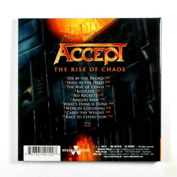 ACCEPT the rise of chaos CD