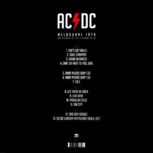 AC/DC melbourne 1974 LP