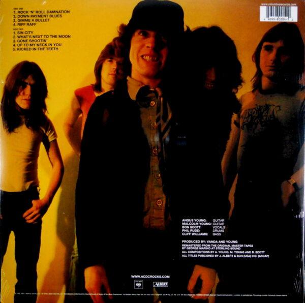 AC/DC powerage LP back