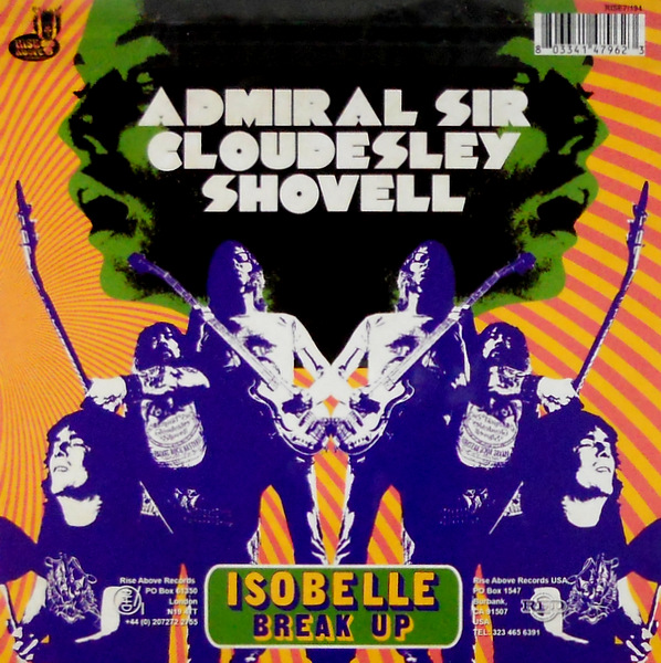 ADMIRAL SIR CLOUDESLEY SHOVELL isobelle 7""