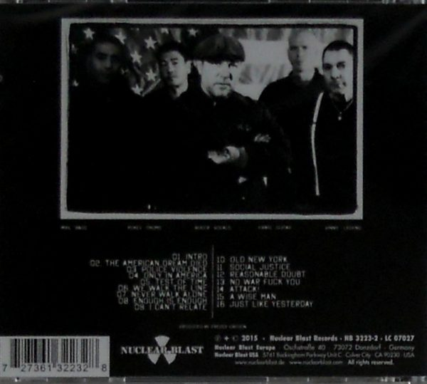 AGNOSTIC FRONT the american dream died CD back