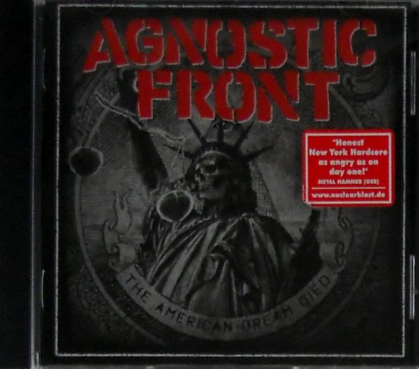 AGNOSTIC FRONT the american dream died CD