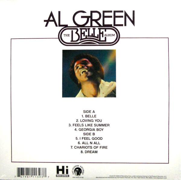 GREEN, AL the belle album LP back