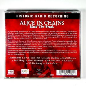 ALICE IN CHAINS bleed the freak CD back