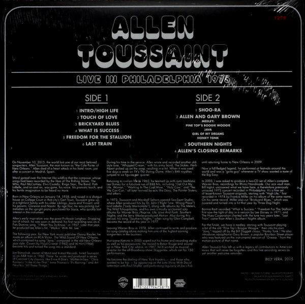 TOUSSAINT, ALLEN live in philadelphia 1975 LP