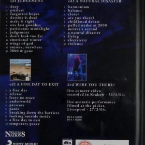 ANATHEMA fine days 1999 - 2004 CD back