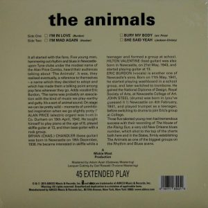 "ANIMALS, THE self titled ep 10"" inch back"