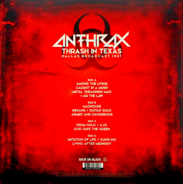 ANTHRAX thrash in texas - live dallas 1987 LP