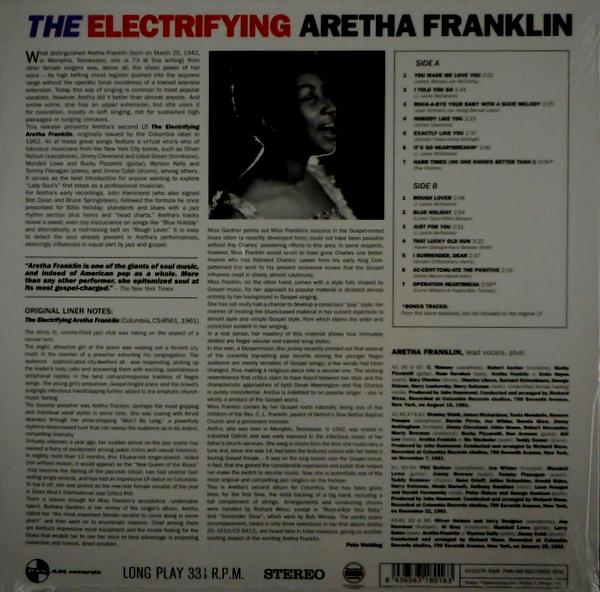 FRANKLIN, ARETHA the electrifying LP