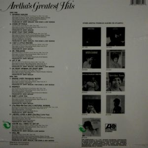 FRANKLIN, ARETHA aretha franklin greatest hits LP