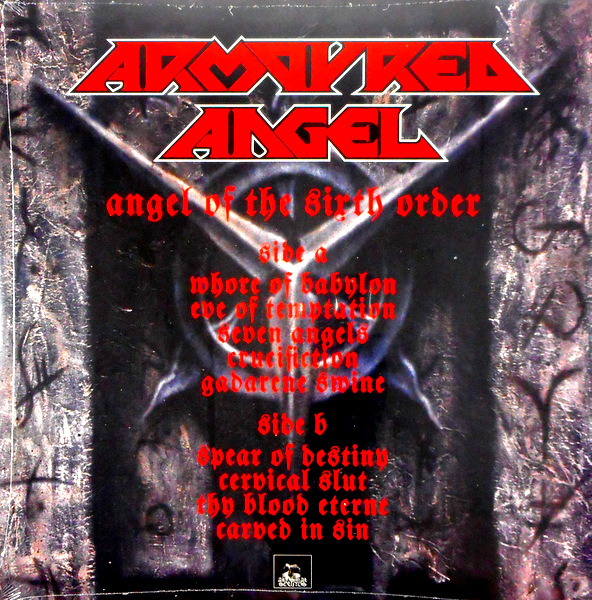ARMOURED ANGEL angel of the sixth order LP