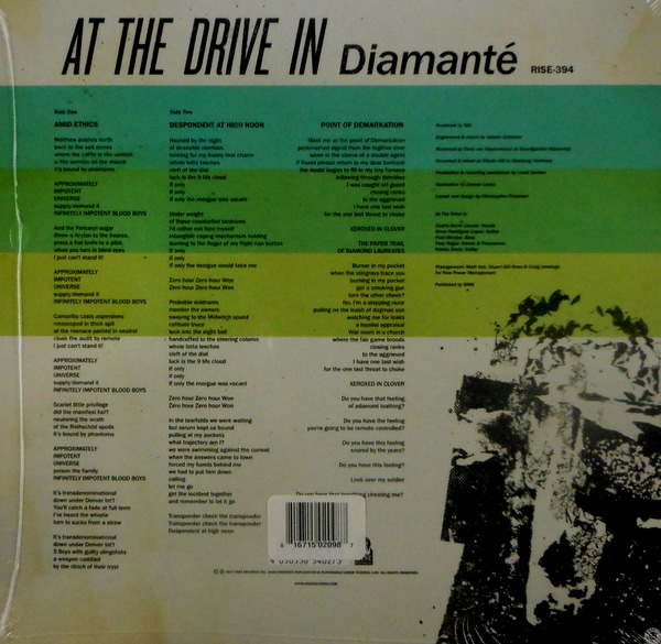 """AT THE DRIVE IN diamante 10"""""""