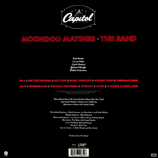 BAND, THE moondog matinee LP
