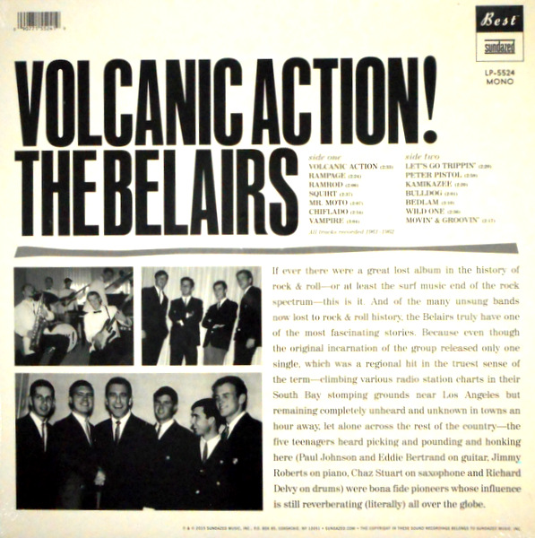 BELAIRS, THE volcanic action! LP