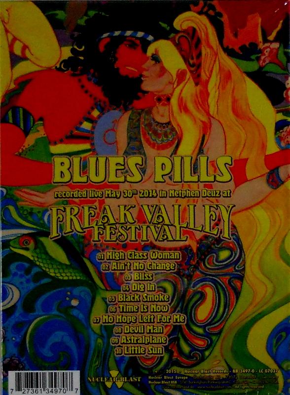 BLUE'S PILLS live - deluxe cd back
