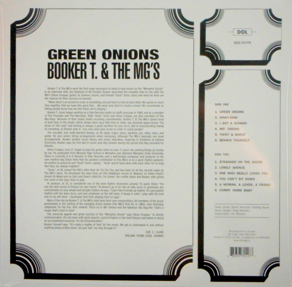 BOOKER T & THE MG's green onions LP