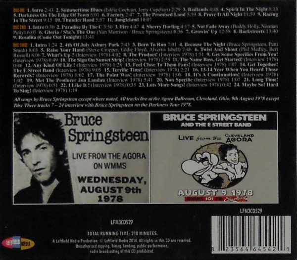 bruce springsteen agora ballroom cd box