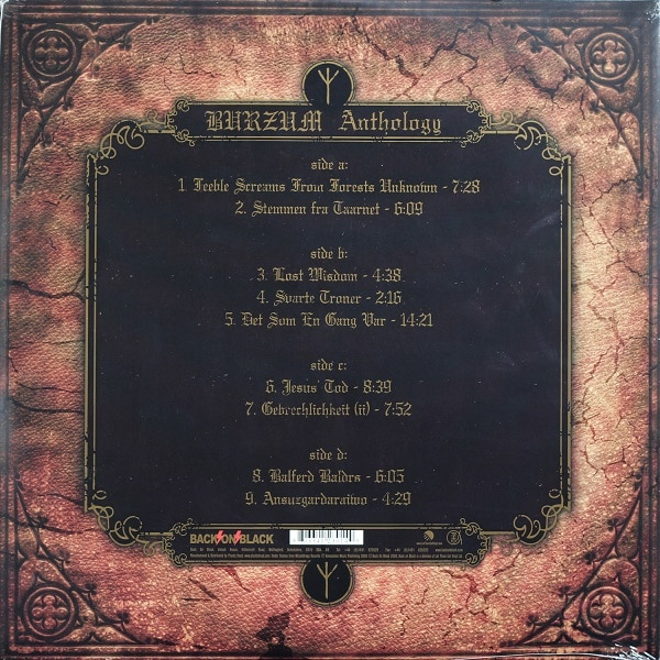 BURZUM anthology LP