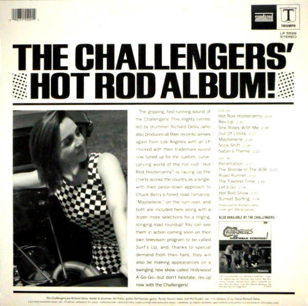 CHALLENGERS, THE hot rod album LP