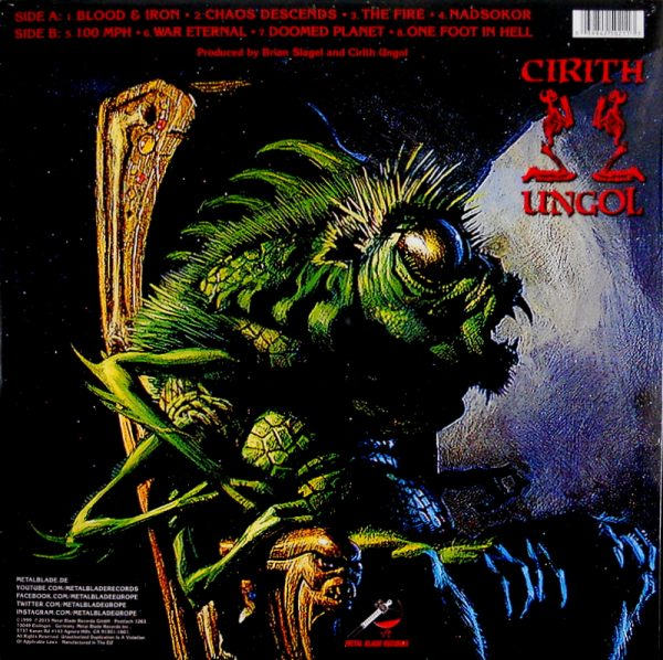 CIRITH UNGOL one foot in hell LP back