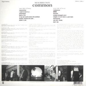 COMMON resurrection LP back