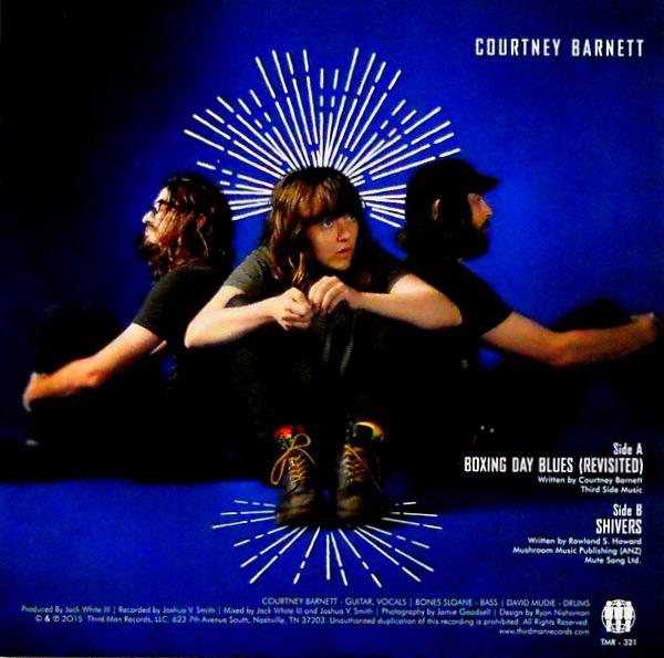 "BARNETT, COURTNEY boxing day blues 7"" inch single back"