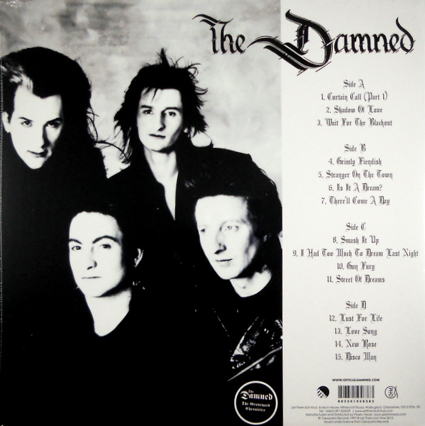DAMNED, THE fiendish shadows LP back