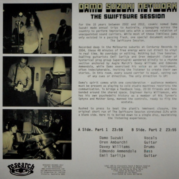 CAN (DAMO SUZUKI NETWORK) the swiftsure session LP