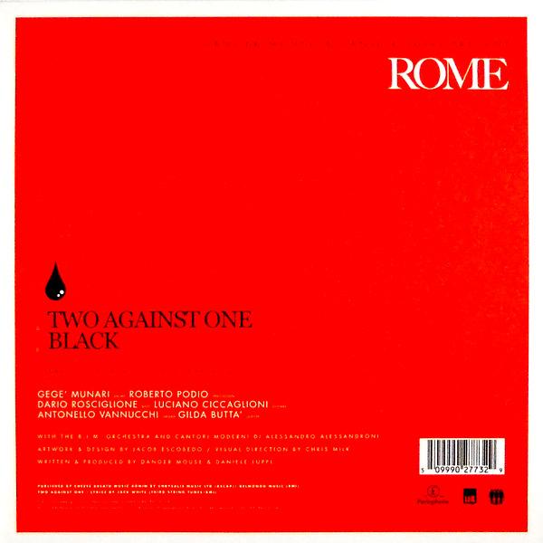 """DANGER MOUSE & DANIEL LUPPI rome 7"""" inch single back"""