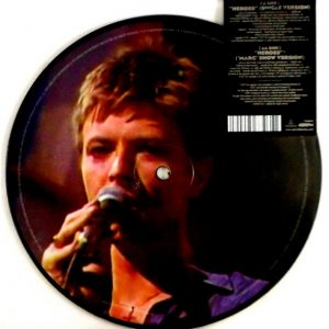 """BOWIE, DAVID heroes - pic disc 7"""""""