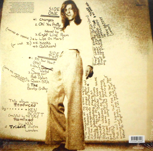 BOWIE, DAVID hunky dory - 180g vinyl LP