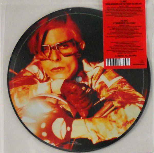 """BOWIE, DAVID young americans - pic disc 7"""" inch back"""