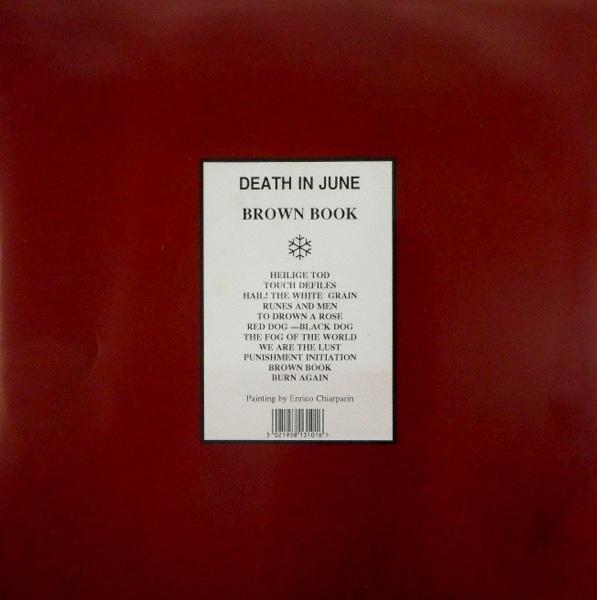 DEATH IN JUNE brown book - pic disc LP