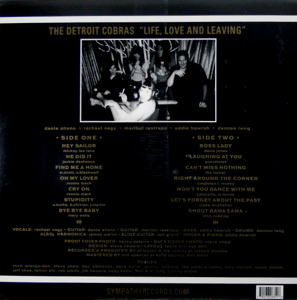 DETROIT COBRAS, THE life, love and leaving LP back