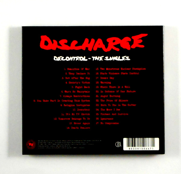 DISCHARGE decontrol - the singles CD