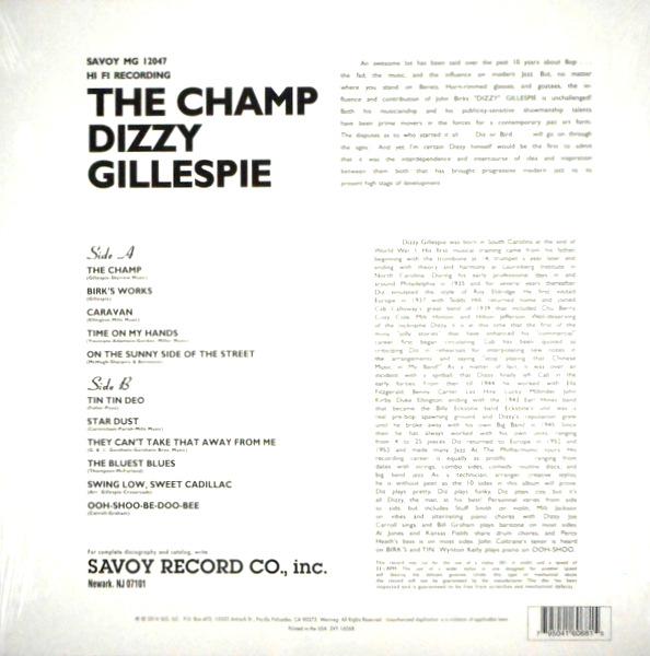 GILLESPIE, DIZZY the champ LP