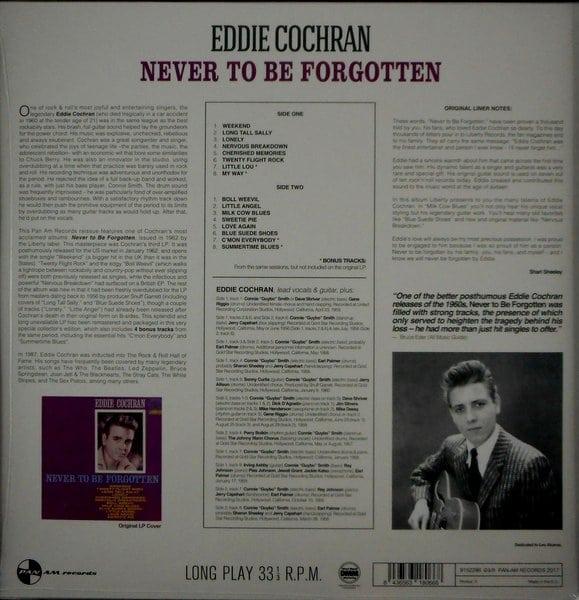 COCHRAN, EDDIE never to be forgotten LP