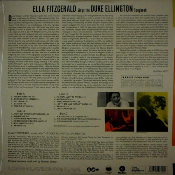 FITZGERALD, ELLA sings the Duke Ellington song book LP
