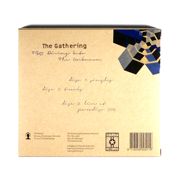 GATHERING, THE tg25 - diving into the unknown CD back