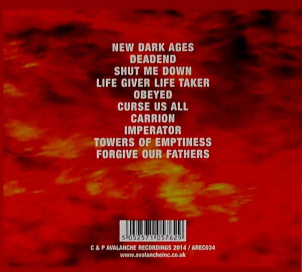 GODFLESH a world lit only by fire CD back
