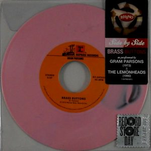 "PARSONS, GRAM / THE LEMONHEADS brass buttons 7"" inch"