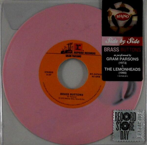"PARSONS, GRAM / THE LEMONHEADS brass buttons 7"" inch"