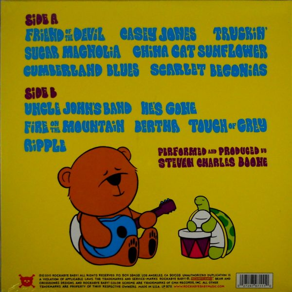 GRATEFUL DEAD (ROCKABYE BABY) lullaby renditions LP back